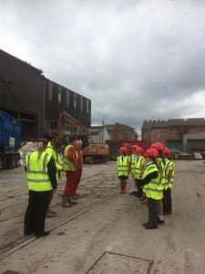 wheeldon brothers showing heap bridge primary school around the waste and recycling centre