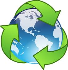 world-with-recycling-logo-around